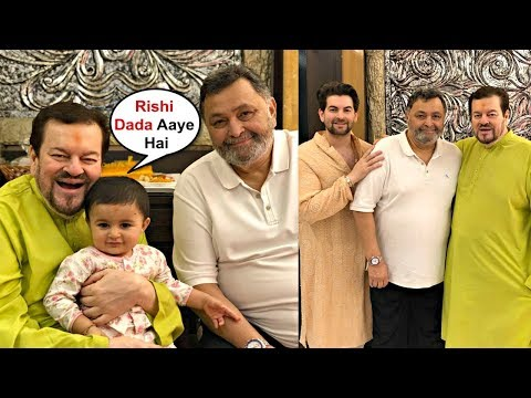 Neil Nitin Mukesh Daughter Nurvi Meets Rishi Kapoor At Ganpati Darshan Mp3