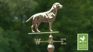 Good Directions 560p Labrador Retriever Weathervane - Polished Copper