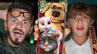 BEN ANGELA'ya NE YAPTI?! TOM YAKALANDI! (My Talking Tom and Friends)