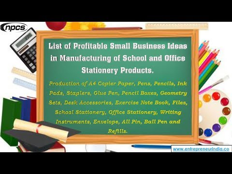 Production of School and Office Stationery Products