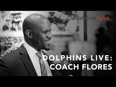 Dolphins Live: Coach Flores meets with the media ahead of voluntary minicamp.