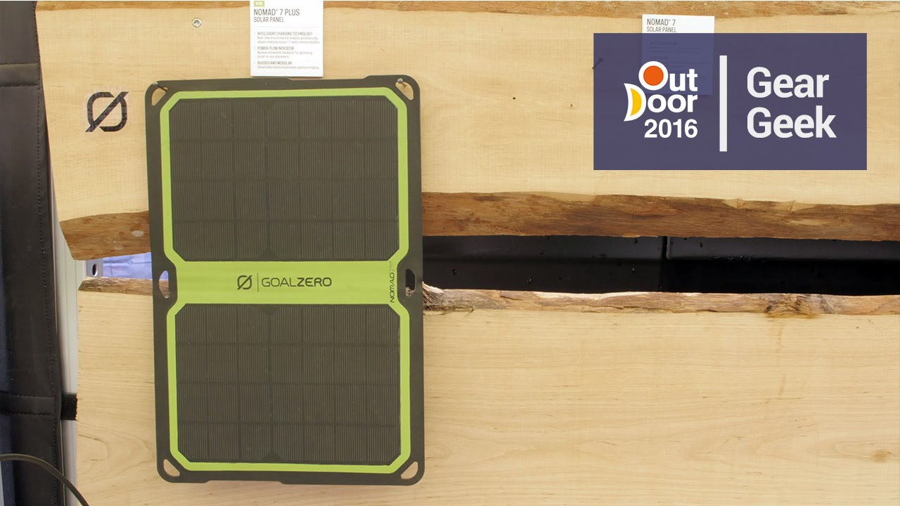 Goal Zero Nomad 7 Plus Solar Panel | Outdoor 2016 - YouTube