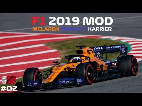 ÓRIÁSI GOND VAN! 🏁 F1 2019 MOD Mclaren KARRIER 💣💥 2. futam: BAHREIN-SAKHIR letöltés
