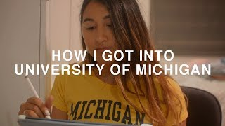 Video HOW I GOT INTO UNIVERSITY OF MICHIGAN! GPA, Test Scores, Extracurriculars, High School Resume download MP3, 3GP, MP4, WEBM, AVI, FLV Juli 2018