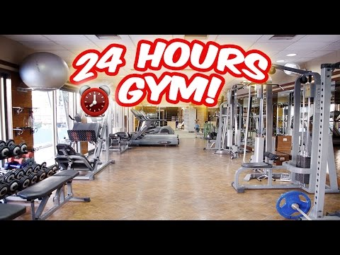 (ALARM!) 24 HOUR OVERNIGHT in GYM FORT ⏰  | SNEAKING INTO A GYM OVERNIGHT CHALLENGE GONE WRONG