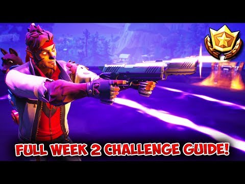 Fortnite: FULL WEEK 2 CHALLENGES GUIDE! | Fortnite Battle Royale Season 6 Challenge Tips & Tricks!
