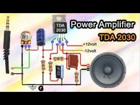 TDA2030    Full Circuit Diagram Making Amplifier ...