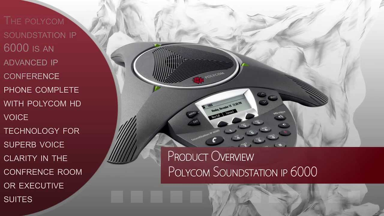 Polycom SoundStation IP 6000 w/Power Supply