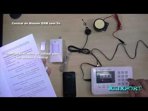 Central de alarme residencial comercial gsm wireless sem fio