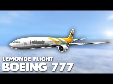 LeMonde Boeing 777 Flight! | Roblox