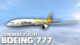 LeMonde Boeing 777 Flight! | Roblox