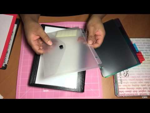 How to securely store clear stamps in a binder and sleeves storage system.