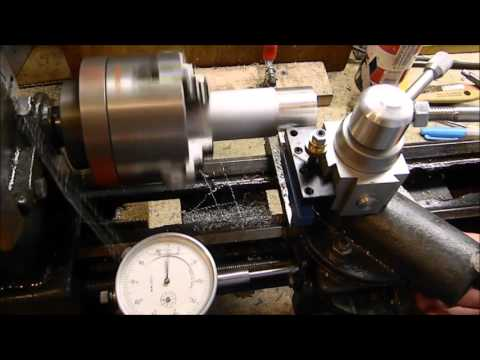 Craftsman 109 metal lathe turning and drilling 109-20630