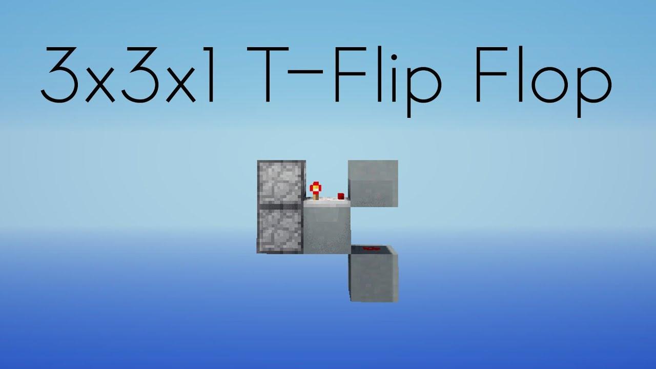 Minecraft 3x3x1 Fast T Flip Flop Youtube Block Diagram