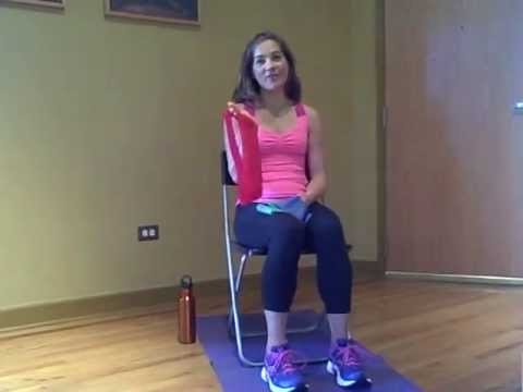 Youtube Chair Yoga Lazy Boy And A Half Recliner Exercises Using Resistance Bands -