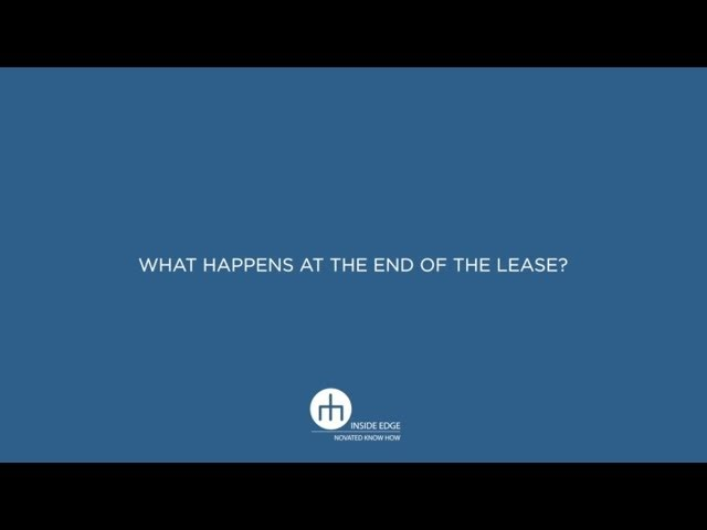 What happens at the end of the lease? - 06