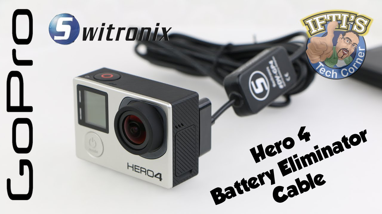 Switronix Dv Gp4 Gopro Hero 4 Battery Eliminator Cable