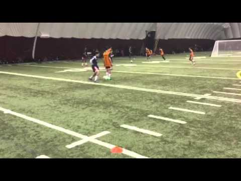 Three player midfield rotation passing drill
