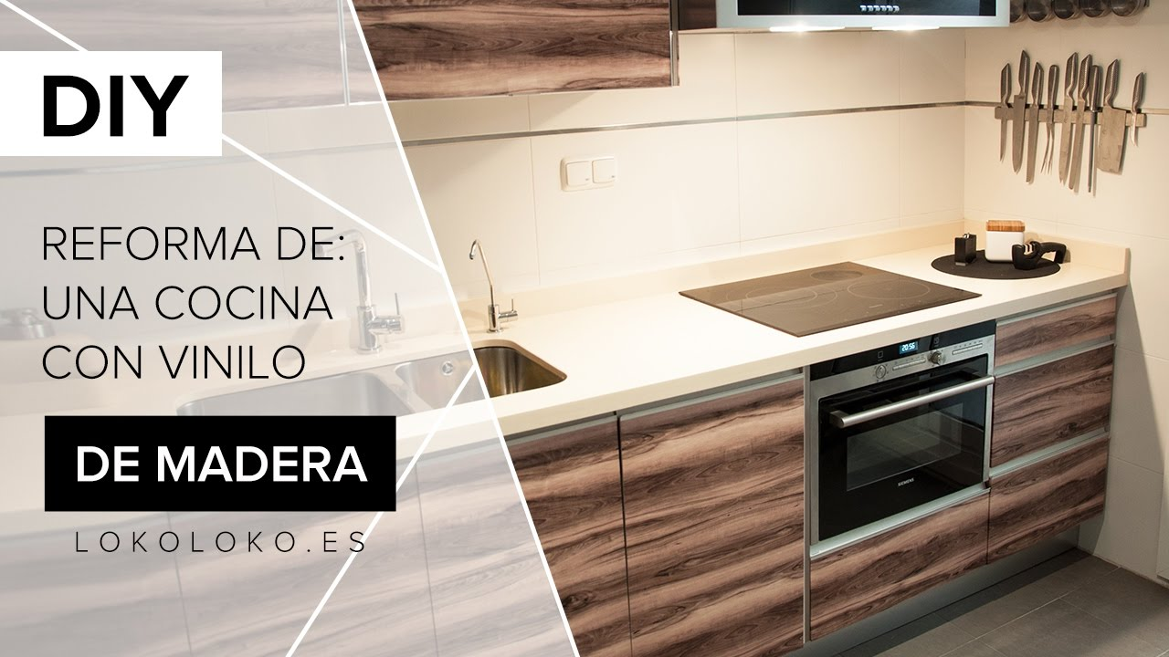 Reforma los muebles de tu cocina con vinilos de imitación madera ...