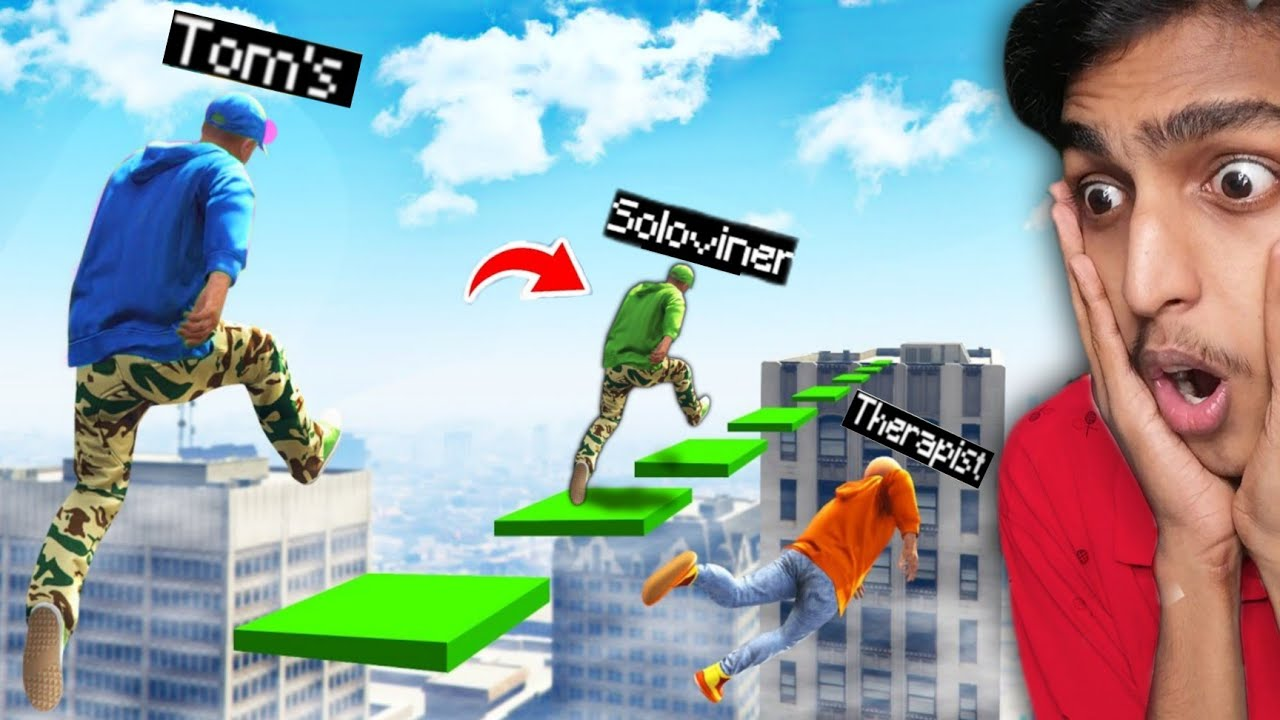 GTA 5 : MAKE The JUMPS To WIN THIS DEATHRUN with ft. @SoloViner / Aduaith !! MALAYALAM