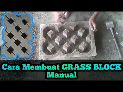 Cara Membuat Paving Block Taman \/ GRASS BLOCK MANUAL KUALITAS SUPER ( Paving Block Taman ) - YouTube