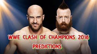 WWE Clash Of Champions 2016 Cesaro vs. Sheamus (Match Seven in Best of Seven Series) Predictions