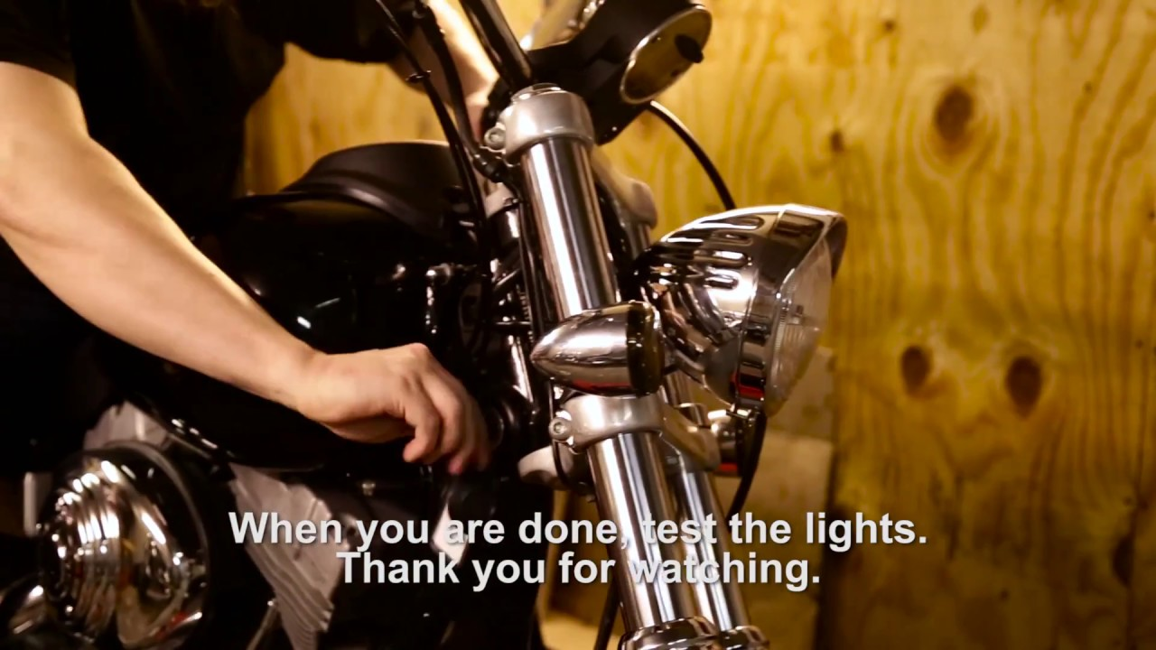 How to relocate front turn signals on Harley Harley Dyna Front Light Wiring Diagram on