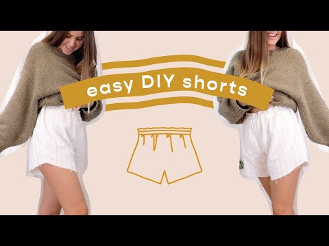 diy-//-high-waisted-elastic-shorts-(super-simple!)