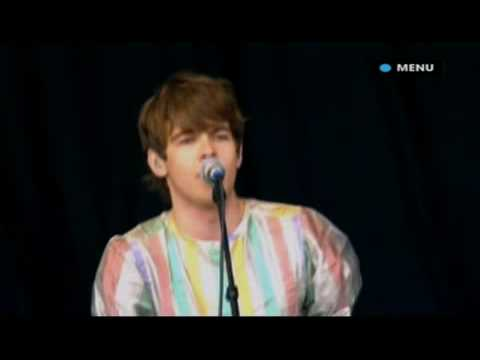 Klaxons Perform Golden Skans Live Glastonbury 2007 music
