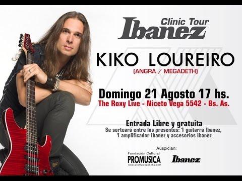 Kiko loureiro - clinic tour ibanez - Argentina