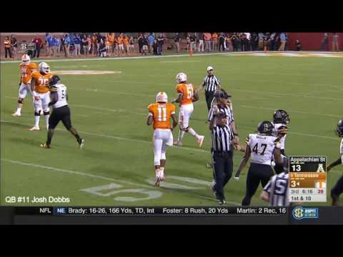 Josh Dobbs vs. Appalachian State (2016)