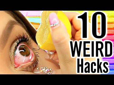 Thumbnail: 10 WEIRD Life Hacks EVERYONE Should Know!
