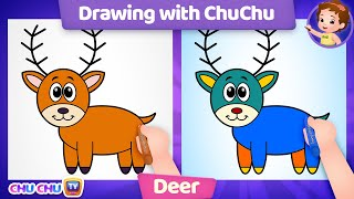 How to Draw a Deer Step by Step? - Drawing with ChuChu - ChuChu TV Drawing Lessons for Kids