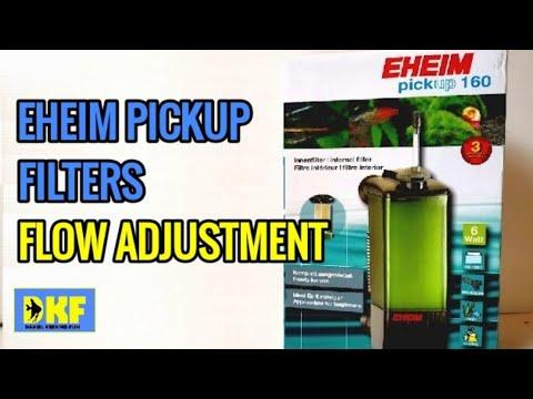Eheim Pickup Filters Flow Adjustment.
