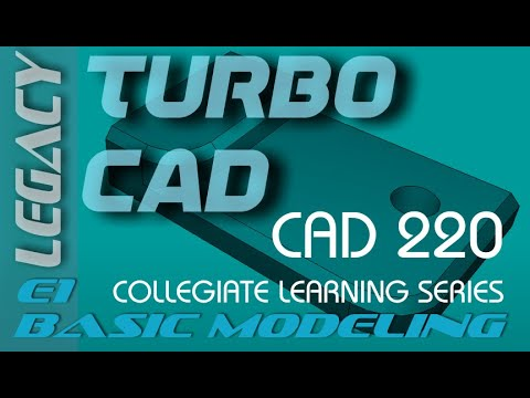 E1 TurboCAD v20 Pro - Solid Modeling Tutorial