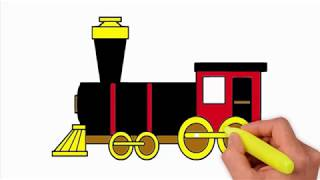Coloring Pages-how to draw a train - how to draw a train for kids | train easy draw tutorial