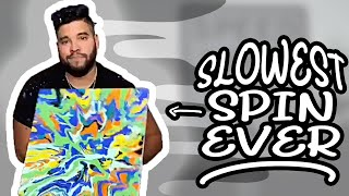 Spin Art But Really Slow Spin Art #Shorts #YouTubeShorts