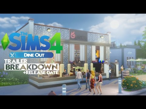 The Sims 4 Dine Out Gamepack - Trailer Breakdown (+Release date)