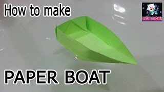 How to Make a Paper Boat Origami Tutorial- Canoe