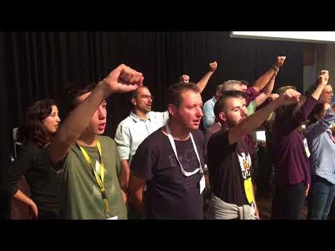 Els Segadors a Taradell després del Referèndum de l'1 d'octubre de 2017