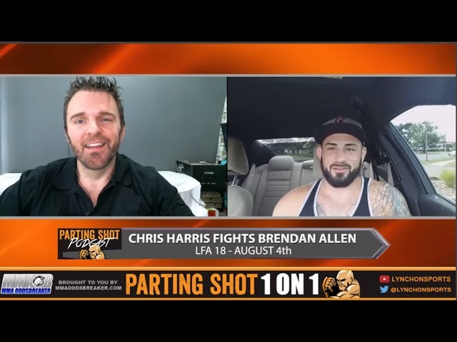 "LFA 18's Chris Harris ""I'm the toughest test Brendan Allen has ever had"""