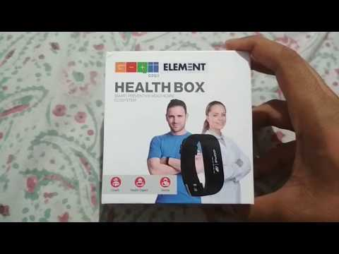 Unboxing Goqii Element Smartband