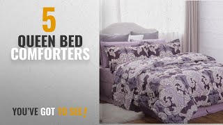 Top 10 Queen Bed Comforters [2018]: Ocean Wave Pattern Comforter Set BED IN A BAG Full/Queen