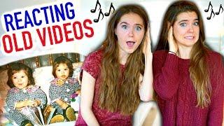 reacting to old singing videos nina and randa