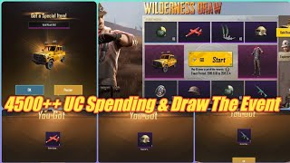 4500++ UC Spending On Wilderness Draw Event Pubg Mobile | Pubg Gold Rush UAZ Lucky Draw/Spin Event