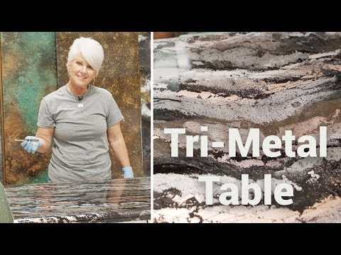 Tri-Metal Table: Refinishing with Stone Coat Countertop Epoxy!