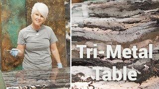 Tri-Metal Table: Refinishing with Stone Coat Countertop Epoxy!