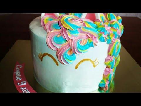 Торт для девочки. Торт Единорожек.