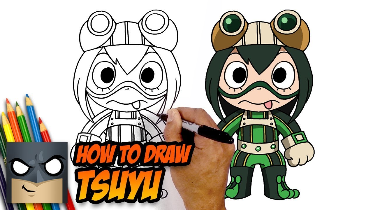 How To Draw Tsuyu Asui My Hero Academia Step By Step