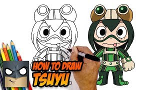 How to Draw Tsuyu Asui | MY HERO ACADEMIA | Step-by-Step